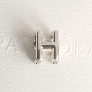 Pandora Letter H Alphabet Silver NWT 925 Ale